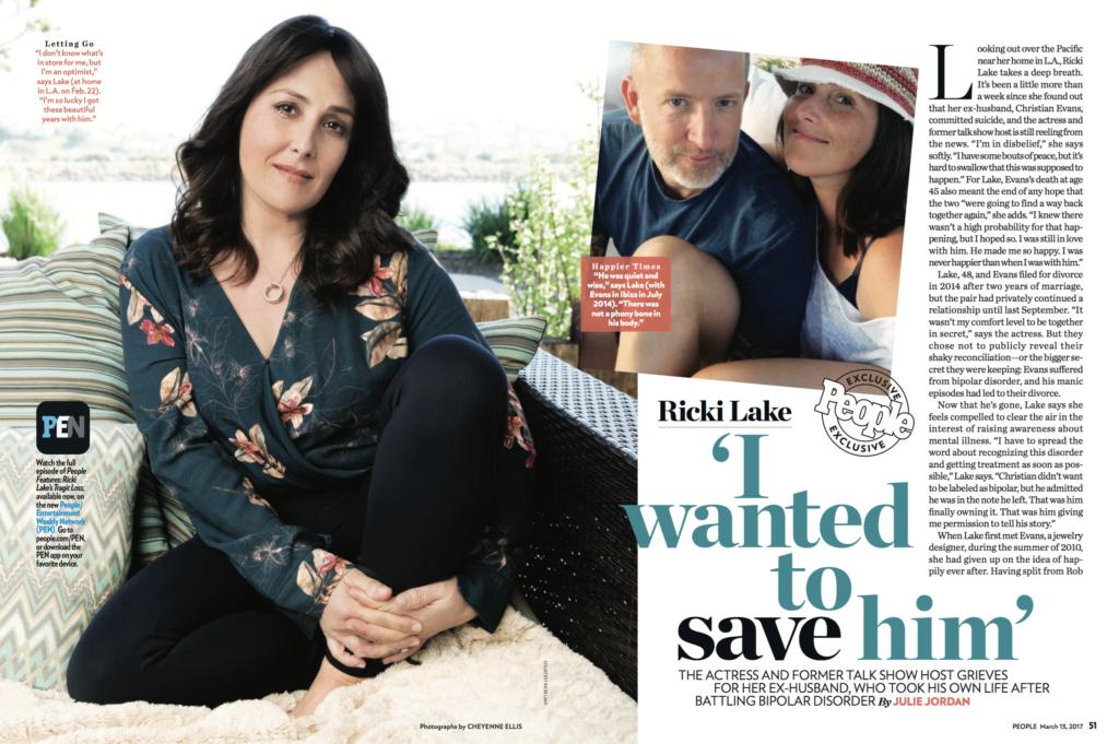 Ricki Lake By Cheyenne Ellis For People Magazine |