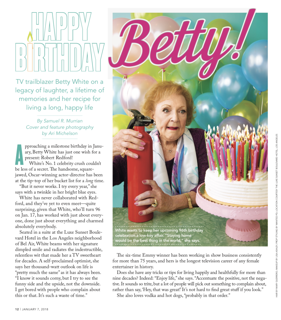 Ari Michelson Shoots Betty White For Parade Magazine  